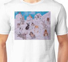 Bunny Snowball Fight Unisex T-Shirt