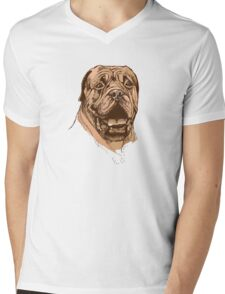 portrait of boxer dog in color and black and white Mens V-Neck T-Shirt