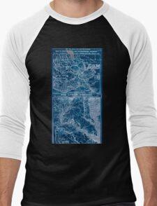 Civil War Maps 1908 War maps and diagrams Inverted Men's Baseball ¾ T-Shirt