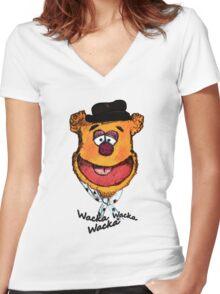 Wacka Wacka Wacka Women's Fitted V-Neck T-Shirt