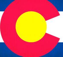 Colorado vintage grunge flag shape outline Sticker