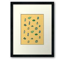 Comical Cacti Framed Print