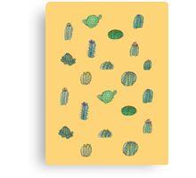 Comical Cacti Canvas Print