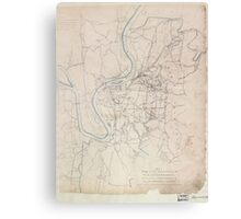 Civil War Maps 0858 Map of the battlefield of Chattanooga Canvas Print
