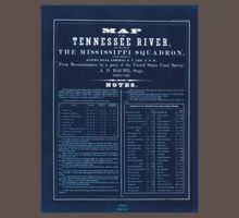 Civil War Maps 0993 Map of the Tennessee River for the use of the Mississippi Squadron Inverted Baby Tee