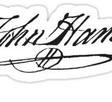 John Hancock Signature Sticker