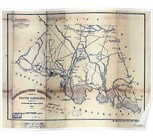 Civil War Maps 1110 Marlborough District South Carolina Poster