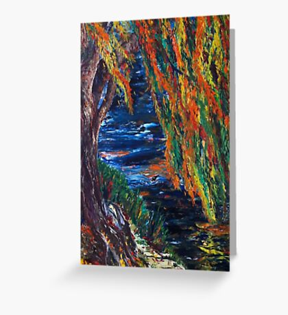 Boston and Colors of Fall Greeting Card