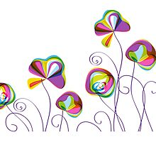 Rainbow Garden Photographic Print