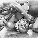 Lucas - Wrestling for Stanford 2009 by David J. Vanderpool