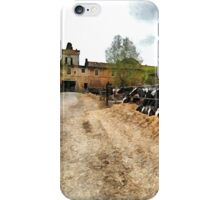 Cows in the barn iPhone Case/Skin