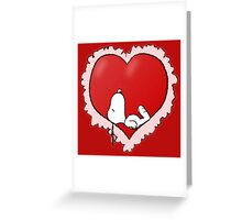 snoopy love Greeting Card