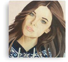Barbara Palvin colored pencil Canvas Print