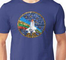 glitter space ship Unisex T-Shirt