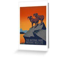 WPA Vintage National Parks Wildlife Travel Greeting Card