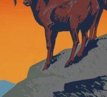 WPA Vintage National Parks Wildlife Travel Sticker