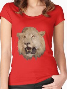 Lion 4 Women's Fitted Scoop T-Shirt