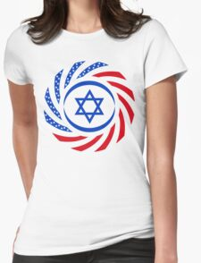 Israeli American Multinational Patriot Flag 1.0 Womens Fitted T-Shirt