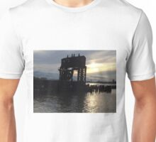 Abandoned New York Central Railroad 69th Street Transfer Station, Hudson River, Hudson River Park, New York City Unisex T-Shirt