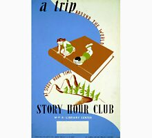 Vintage Reading Story Hour Book Club WPA Unisex T-Shirt