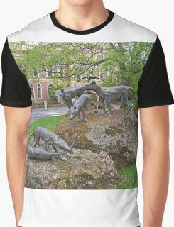 Thylacine statues, Launceston, Tasmania, Australia Graphic T-Shirt