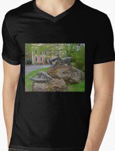 Thylacine statues, Launceston, Tasmania, Australia Mens V-Neck T-Shirt