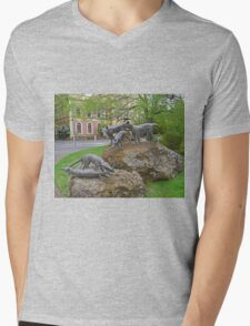 Thylacine statues, Launceston, Tasmania, Australia Mens V-Neck T-Shirt