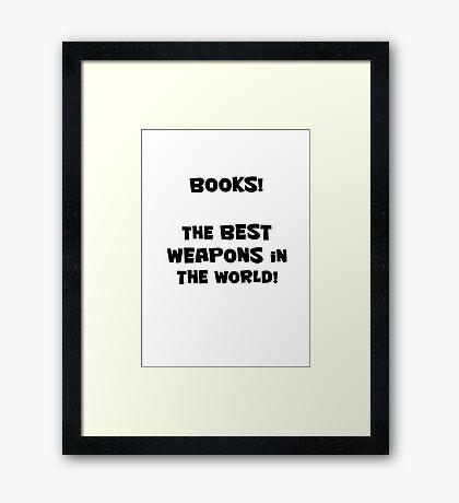 Books! Framed Print