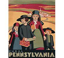 WPA Vintage Travel Poster Rural Pennsylvania Photographic Print