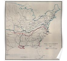 Civil War Maps 0498 Historical sketch of the rebellion May 1862 Poster