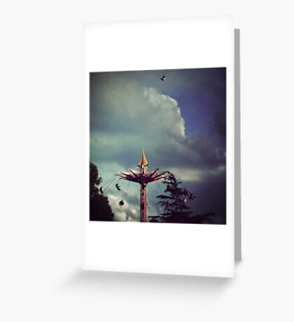 I can fly higher than you Greeting Card