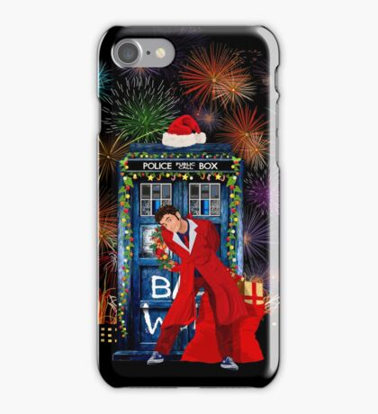 Happy New year from 10th Doctor iPhone Case/Skin