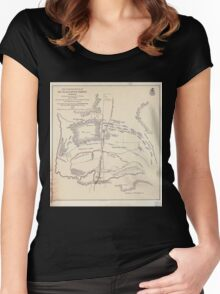 Civil War Maps 0667 Map of battlefield of Big Black River Bridge Mississippi showing the positions of the US troops May 17th 1863 Women's Fitted Scoop T-Shirt