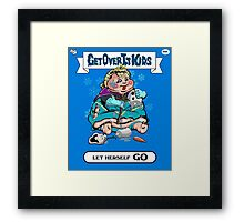 Get Over It Kids-Let Herself Go Framed Print