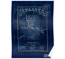 Civil War Maps 0062 Atlanta from Vincent's subdivision map published by the City Council Inverted Poster