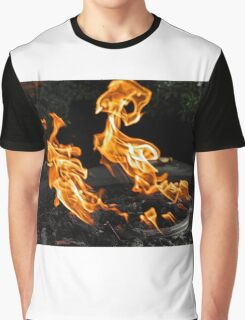 Flaming Demons Graphic T-Shirt