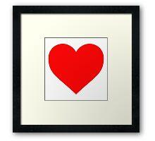 Valentine's Day Heart Framed Print