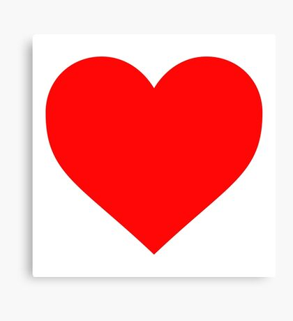 Valentine's Day Heart Canvas Print