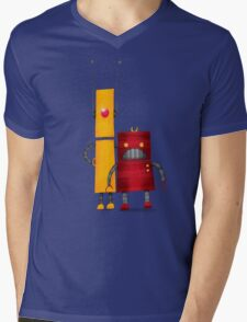 Robot2 Mens V-Neck T-Shirt