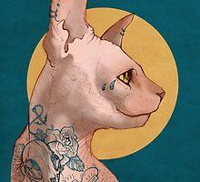 Tattoo Sphinx Cat by KetziaKobrah
