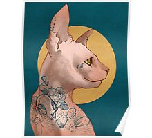 Tattoo Sphinx Cat Poster