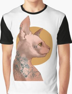 Tattoo Sphinx Cat Graphic T-Shirt