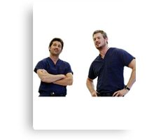 McDreamy and McSteamy Canvas Print