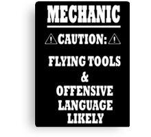 Mechanic Funny Canvas Print