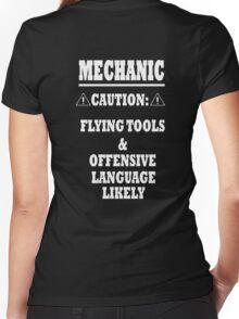 Mechanic Funny Women's Fitted V-Neck T-Shirt