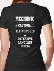 Mechanic Funny Womens Fitted T-Shirt