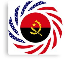 Angolan American Multinational Patriot Flag Canvas Print