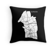 Kaprijke Wit Throw Pillow