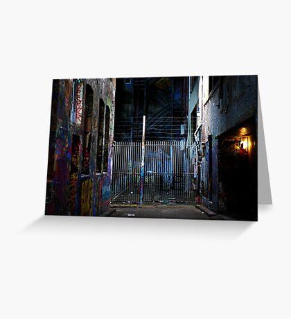 Graffiti fence Greeting Card