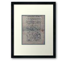 Civil War Maps 1906 War maps and diagrams 02 Framed Print